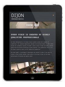 Website voor Dijon Maroquinerie op iPad
