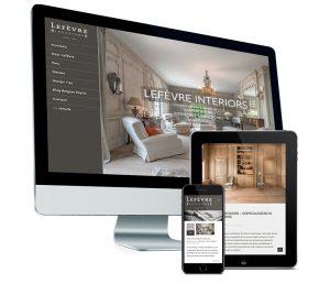 Webdesign: mobielvriendelijke website voor Lefèvre interiors