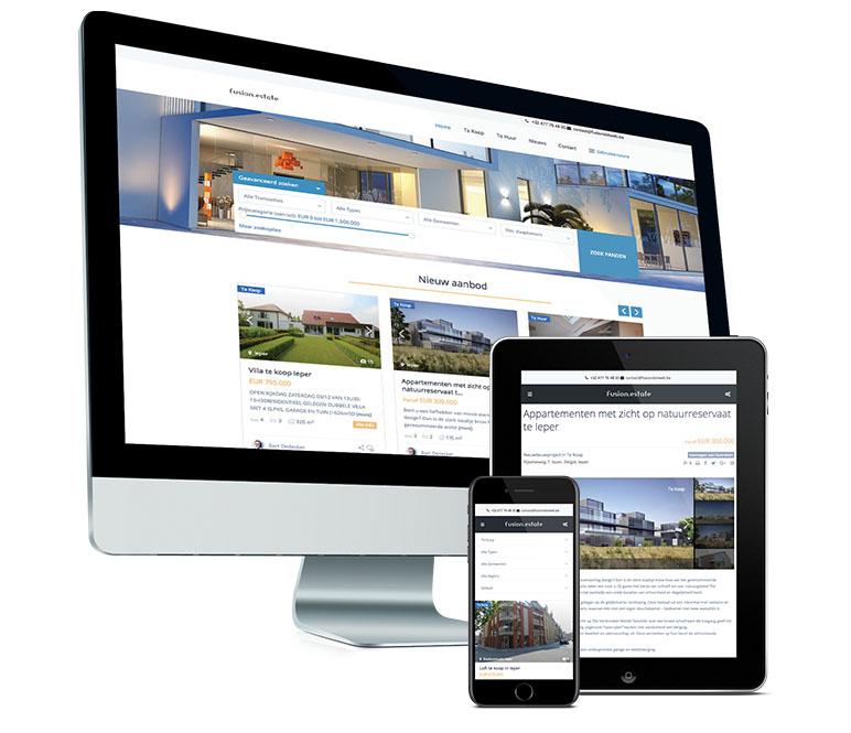 Website voor vastgoed