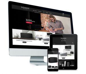 Webdesign: webshop voor Sonos shop - door Fusion.web