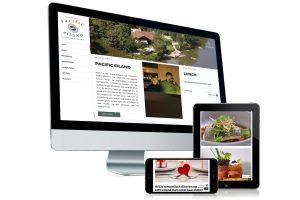 Website gemaakt voor restaurant Pacific Eiland - Ieper