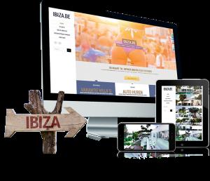 Website voor Ibiza-be, responsive en met een CMS,