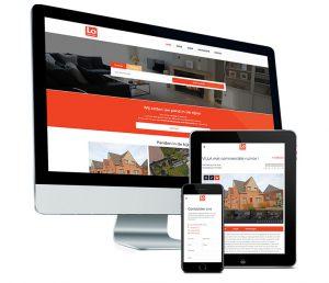 Webdesign: Website voor vastgoedmakelaar Lo Immo in Lochristi bij Gent