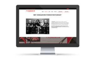 Webdesign, website, voor t fonduetje Kortrijk