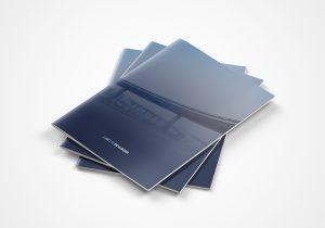 folder voor Labo Devlieger, catalogus, grafisch ontwerp, graphicdesign