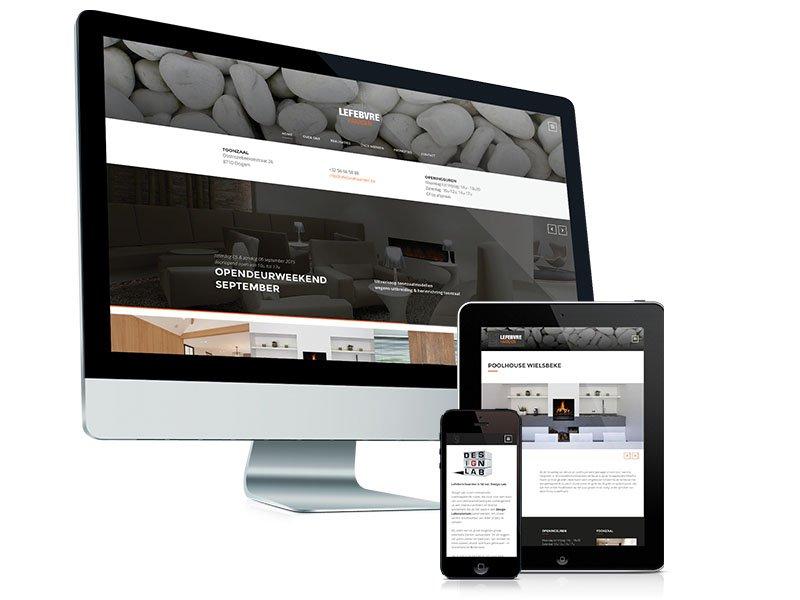 Webdesign, website, voor Lefebvre Haarden Ooigem
