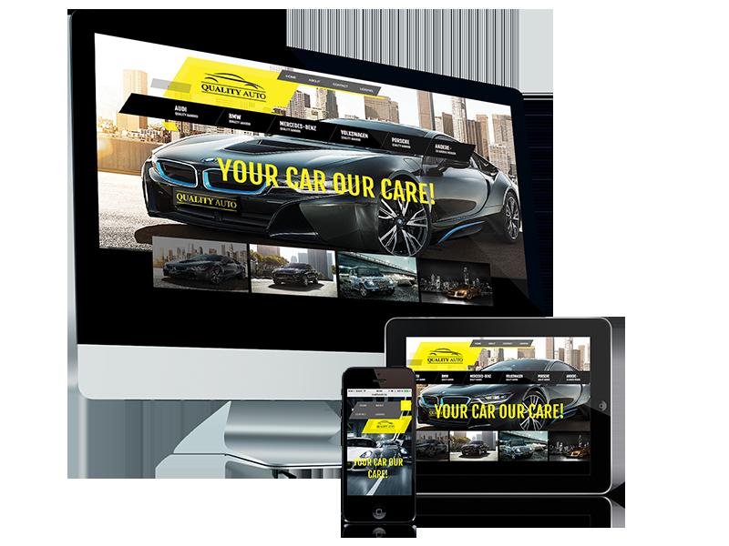 Webdesign Kortrijk, voor Quality Auto, website en grafisch ontwerp