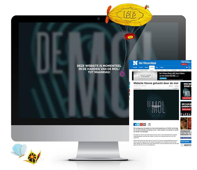 Webshop voor lélé.be en online marketing voor Hanne (De Mol)