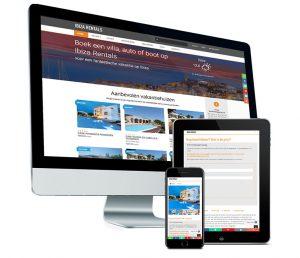 Webdesign: Portaalsite voor Ibizarentals - boek een villa in Ibiza