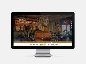 Webdesign, website Dukes' Restaurant, in Brugge