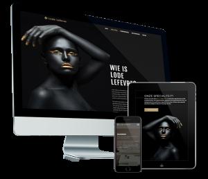 Website voor Lode Lefevre, webdesign Ieper en Kortrijk