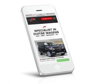 Mobiele website voor Flanders Cars, garage, tweedehands autos, bellen met Whatsapp op mobiele toestellen