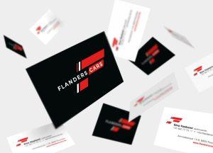 Visitekaartjes voor Flanders Cars uit Roeselare - garage, tweedehands auto, voertuigen, wagens