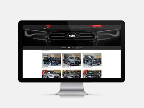 Webdesign, website voor Flanders Car, Roeselare