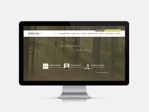 Webdesign, website, voor Lefevre uitvaartcentrum, Waregem
