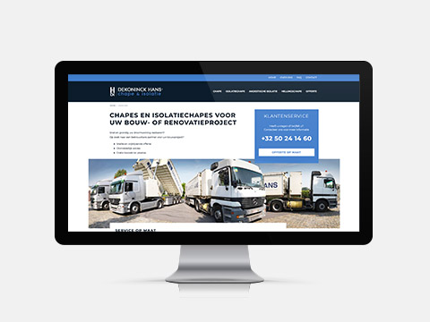 Webdesign & ontwikkeling voor Hans Dekoninck Plus, website met cas
