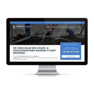 Webdesign en ontwikkeling voor Hans Dekoninck Plus, website met cas