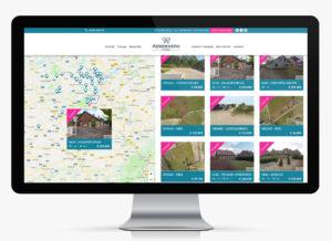 Website voor Aendekerk immo - overzicht panden met filter