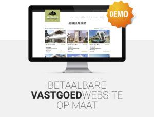 Vastgoed website - Betaalbare website voor vastgoed - immo - immobiliën - immokantoor