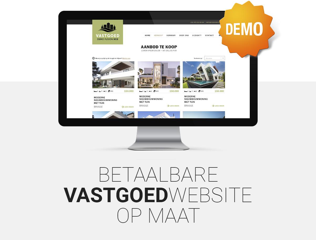 Betaalbare website voor vastgoed - immo - immobiliën