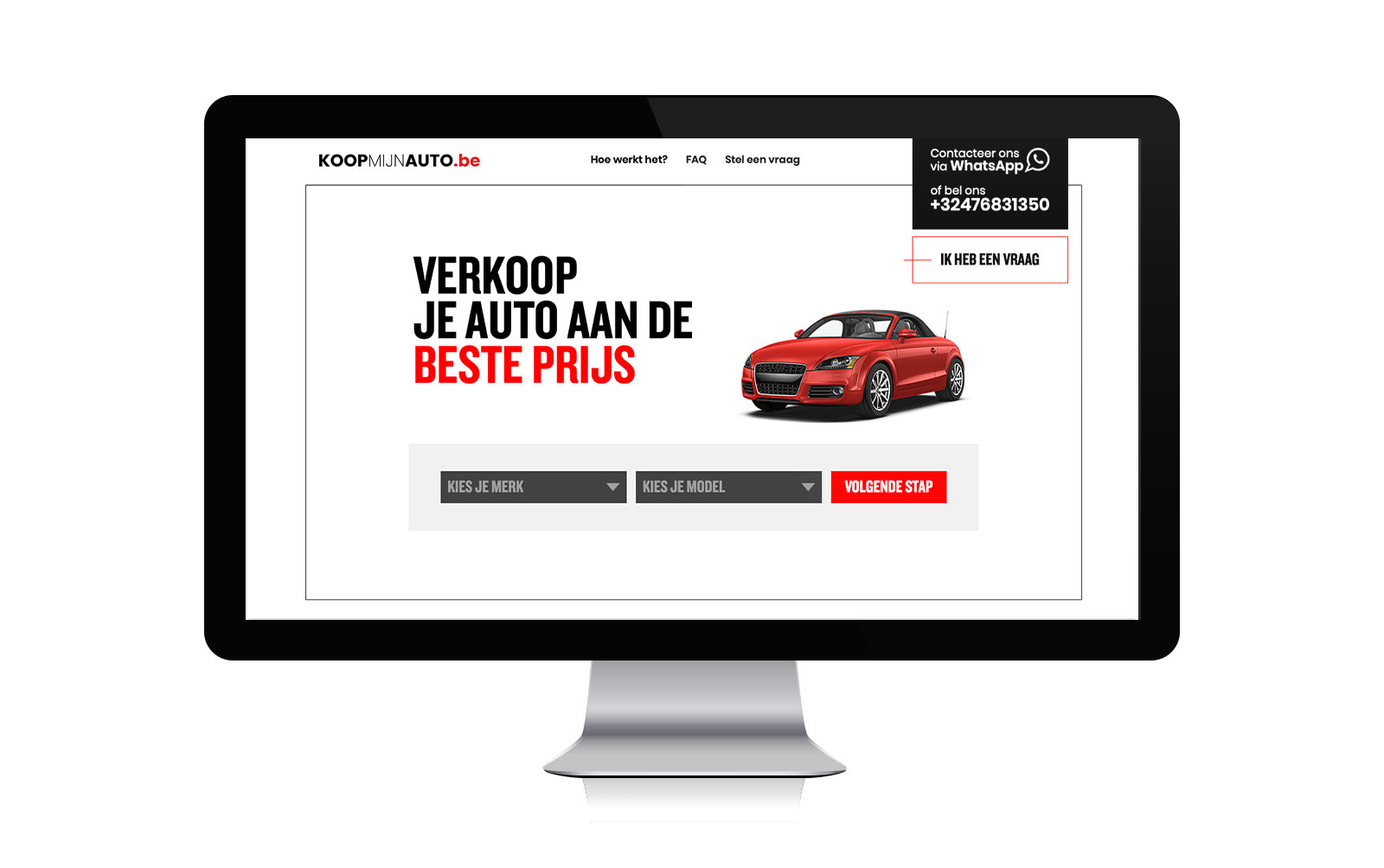 Website voor KoopMijnAuto.be