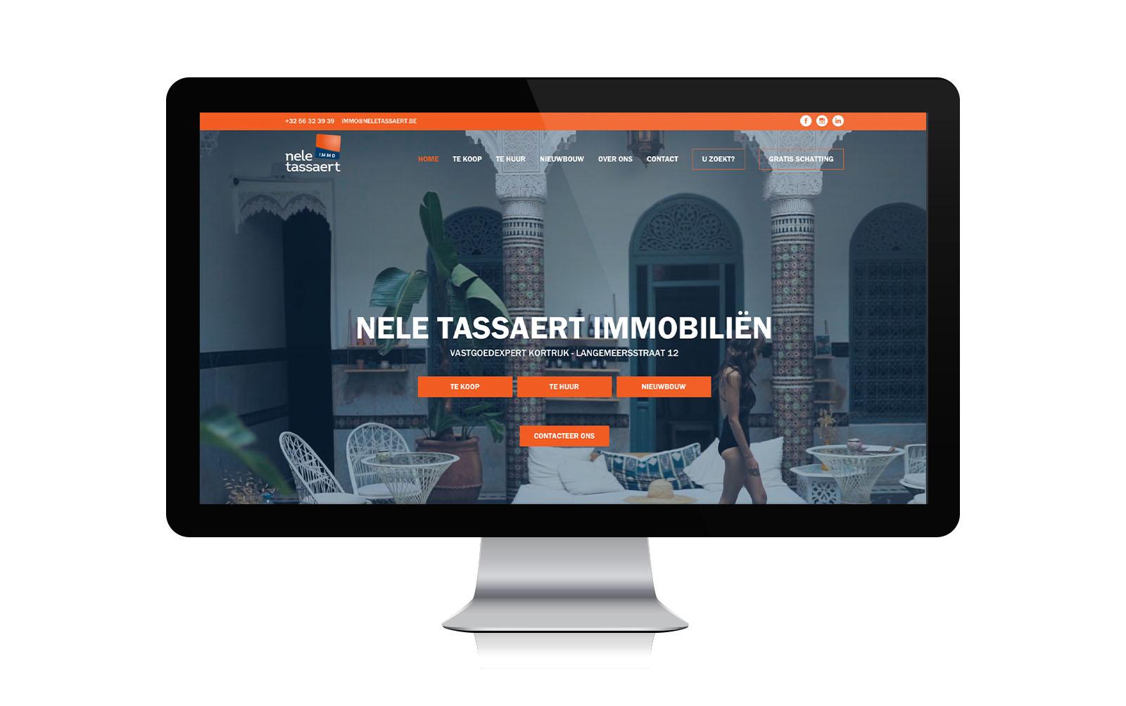 Vastgoed Website voor Nele Tassaert