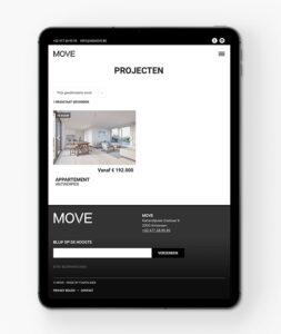 Mobielvriendelijke website voor vastgoed