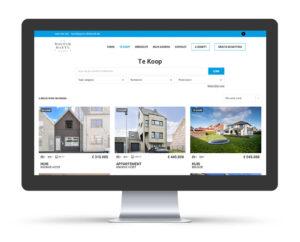 Website, wendesign voor Walter Baete vastgoedmakelaar, overzicht aanbod