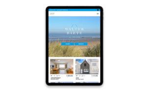 Webdesign voor Walter Baete, Website voor vastgoedmakelaar, immokantoor
