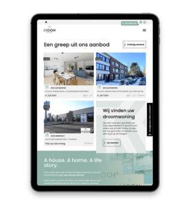 Mobielvriendelijke website voor vastgoedkantoor Ikoon In Antwerpen