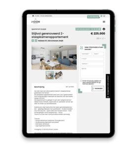 Website op maat voor immokantoor Ikoon in Antwerpen